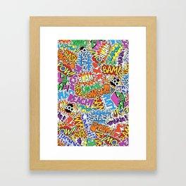 Comic Madness - Bam! Pow! Kaboom! Framed Art Print