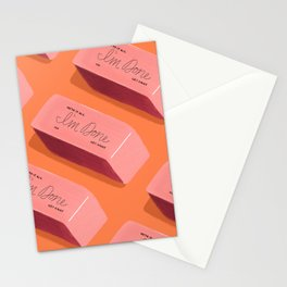 I'm Done Erasers Stationery Cards