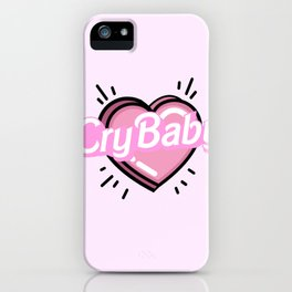 cry baby heart iPhone Case
