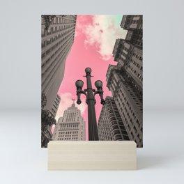 Pink Sky in Sao Paulo 2 Mini Art Print