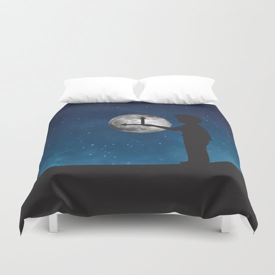 Nine o'Clock Moon Duvet Cover