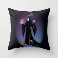 discworld Throw Pillows featuring A PTribute by wolfanita