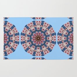 Floral mandala-style, Spring blossoms 002.2.2 Rug