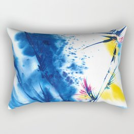 Abstract Blooms by Kathy Morton Stanion Rectangular Pillow
