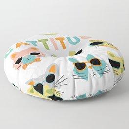 Cattitude Floor Pillow