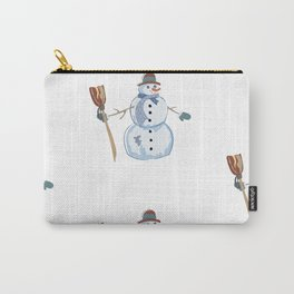 Cute Snowman Carry-All Pouch
