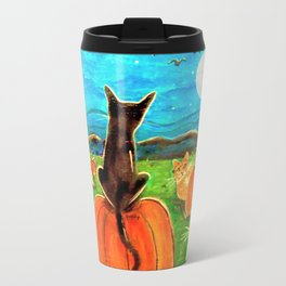 Seven Cats in Pumpkin Patch Travel Mug