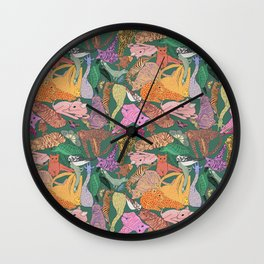 Stack of animals Wall Clock