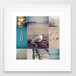 Beach Impressions Framed Art Print