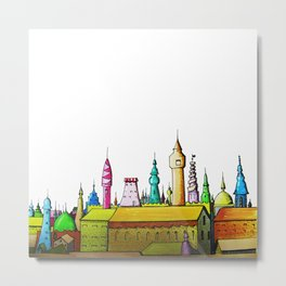 fabulous city painted Metal Print