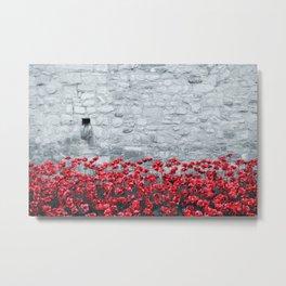 Tower Poppies 01B Metal Print