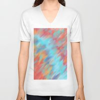 tie dye V-neck T-shirts featuring Tie Dye Mishap by Christina Dugger