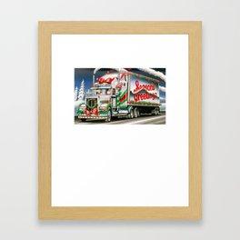 Truck Driver Santa Christmas Shirt Framed Art Print