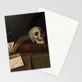 "Memento Mori, ""To This Favour"" by William Michael Harnett Stationery Cards"