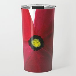 Poppy Floral Print - Original Art - Flower Print Travel Mug