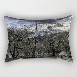 Trees in the morning Rectangular Pillow