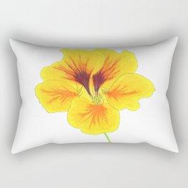 Indian cress flower - illustration Rectangular Pillow