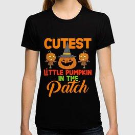 Cutest Little Pumpkin In The Patch Funny Halloween T-shirt