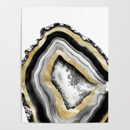 Agate Gold Foil Glam #1 #gem #decor #art #society6 Poster