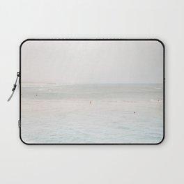At the Seaside (three) - minimal beach series by Ingrid Beddoes Laptop Sleeve