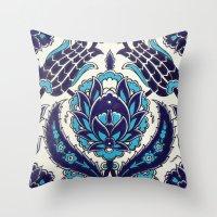 moroccan Throw Pillows featuring Moroccan by Faith Dunbar