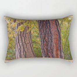 AUTUMN MAPLE AND PINE BARK Rectangular Pillow
