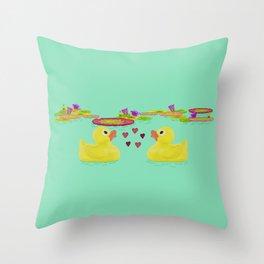 Duckies Throw Pillow