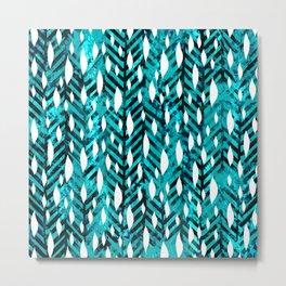 Aqua Rain Metal Print