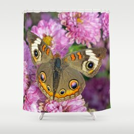 Common Buckeye Butterfly Shower Curtain
