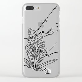 Hyacinth and a rock Clear iPhone Case
