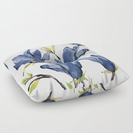 Blue Flowers 3 Floor Pillow