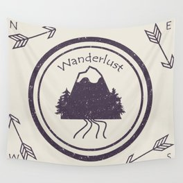 Wanderlust Compass Wall Tapestry
