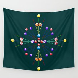 Pool Game Design Wall Tapestry