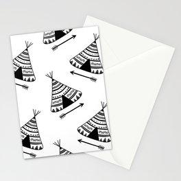 tipi pattern Stationery Cards