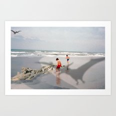 THE BEACH-Suburban Monster Series Art Print