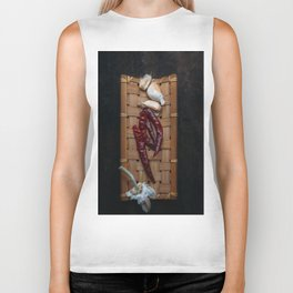 Spices in bamboo basket Biker Tank