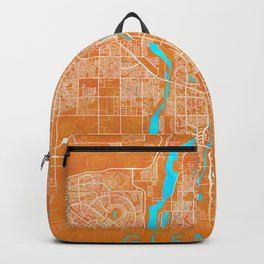Glendale, AZ, USA, Gold, Blue, City, Map Backpack