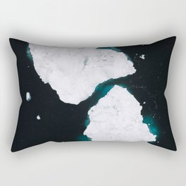 Minimalist dancing Icebergs – Arctic Photography Rectangular Pillow