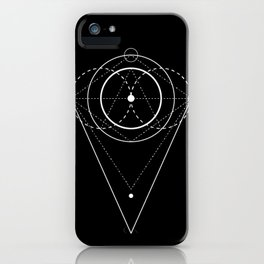 Orb Geometry black iPhone Case