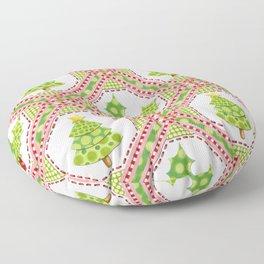 Polka Dot Christmas Floor Pillow