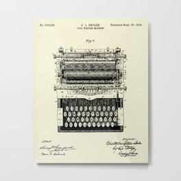 Type Writing Machine-1896 Metal Print