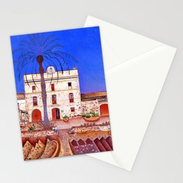 Joan Miro House with Palm Tree Stationery Cards