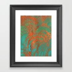 Drawing Meditation: Stencil 1 - Print 10 (orange) Framed Art Print
