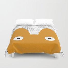 Orange Monster Duvet Cover