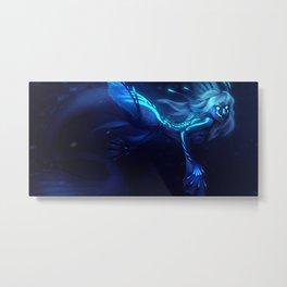 Deep Sea Mermaid Metal Print
