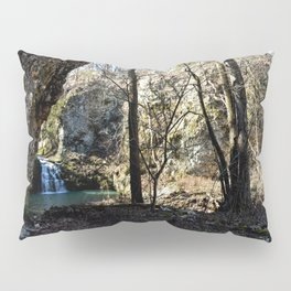Alone in Secret Hollow with the Caves, Cascades, and Critters - First Glimpse of the Falls Pillow Sham