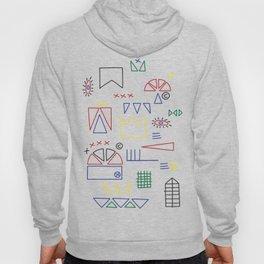 Basquiat & Volpi inspired pattern  Hoody