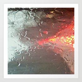 Raindrops on my windshield Art Print