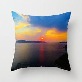 Fira,Sunset Throw Pillow