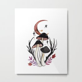 Potion Mushrooms Metal Print